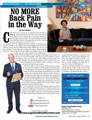Cathy Jones Testimony Upclose Magazine