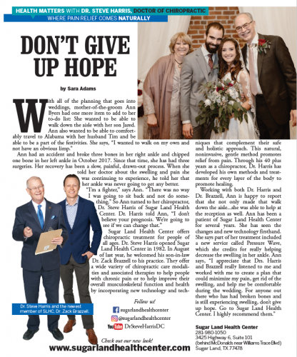 Sara Adams Don't Give Up Hope